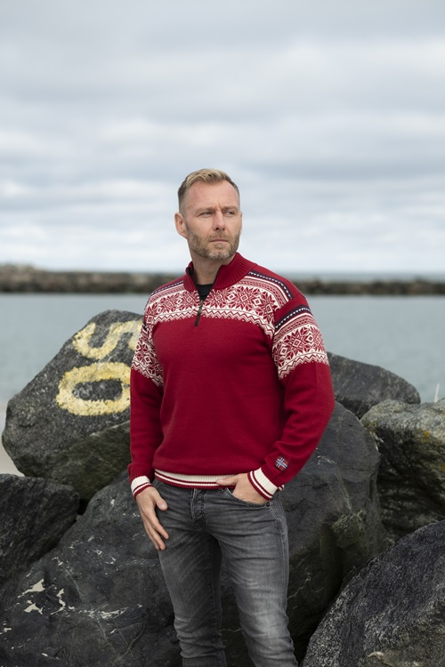 Merino wool jumper from Norway on sale here