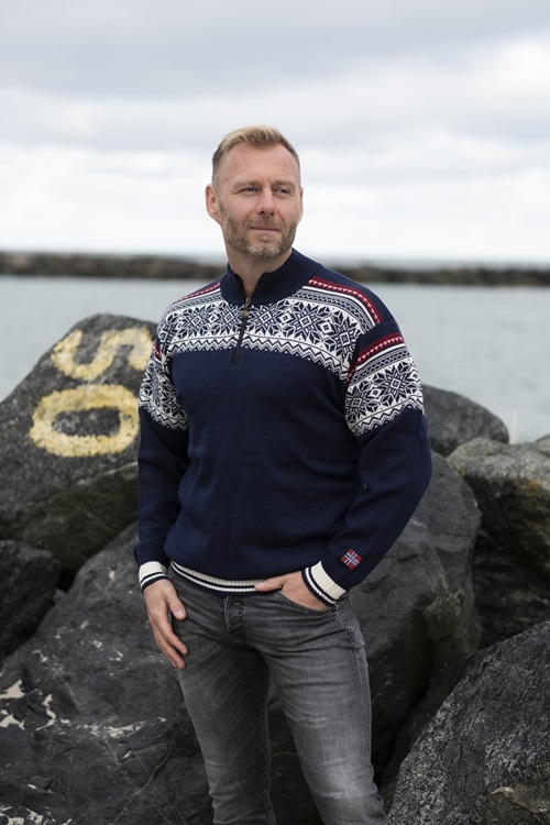 worsted wool jumper from Norway in 100% pure merino wool